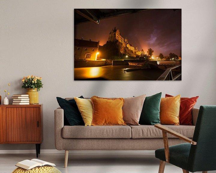 Beispiel: Schloß Sigmaringen mit der Donau - im Regen und Gewitter von Jiri Viehmann