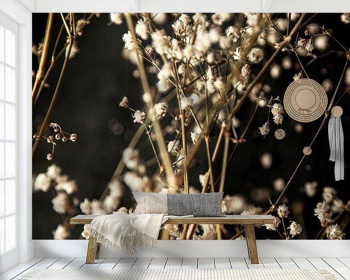 Sfeerimpressie behang: Gipskruid van Melanie Schat