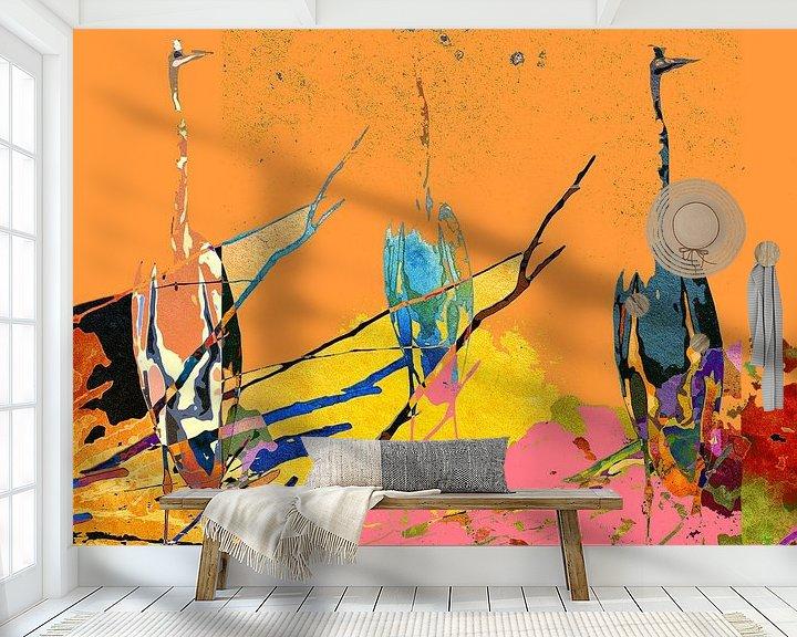 Beispiel fototapete: Three herons von Gabi Hampe
