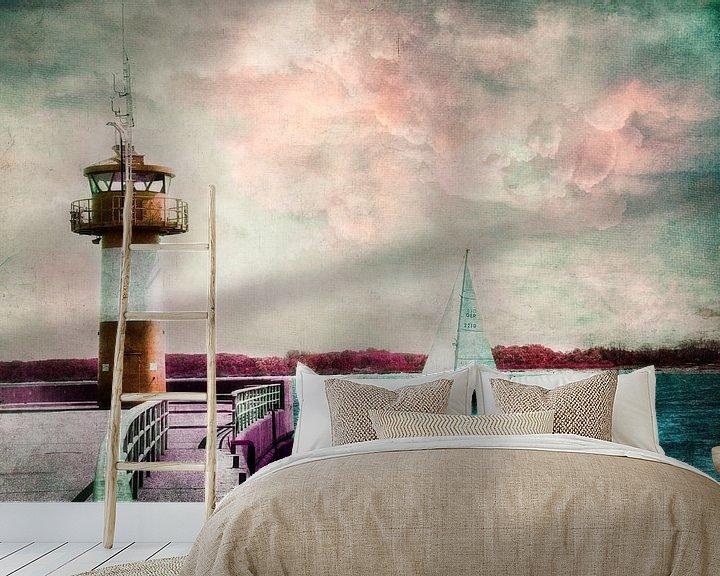 Beispiel fototapete: sailing to my love von Claudia Moeckel