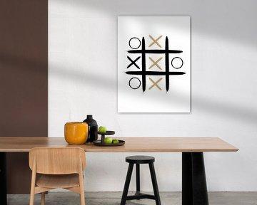 Boter Kaas En Eieren Abstracte Print van MDRN HOME