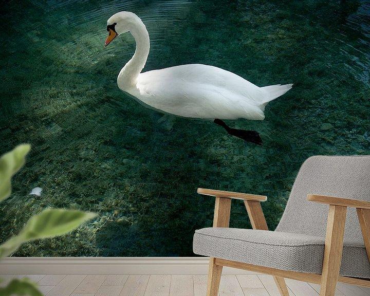 Sfeerimpressie behang: Swan Annecy van Mariska Hofman