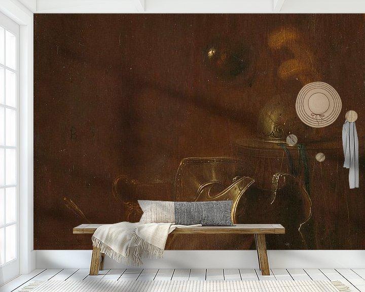 Beispiel fototapete: Stillleben mit Warpausrüstung, Jan Jan Jansz. Buesem