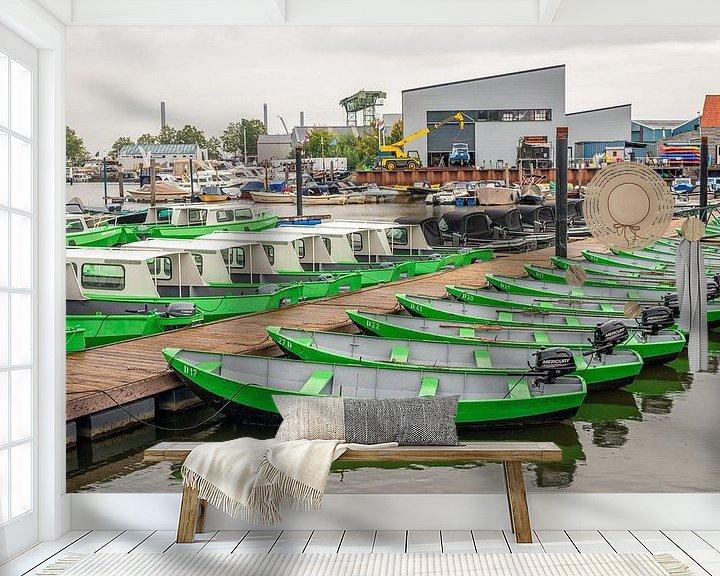 Beispiel fototapete: Bootsverleih in der Alten Marina des niederländischen Dorfes Drimmelen von Ruud Morijn