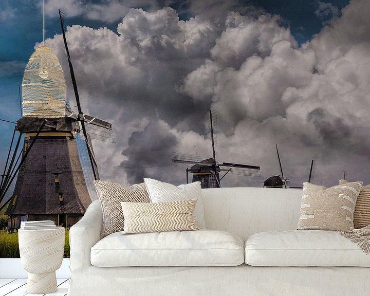 Beispiel fototapete: Thema, Mühlen, Kinderdijk, Niederlande von Maarten Kost