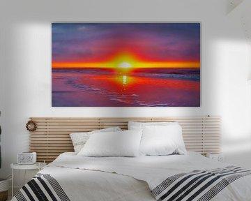 Sunset, Ameland, Niederlande von Maarten Kost