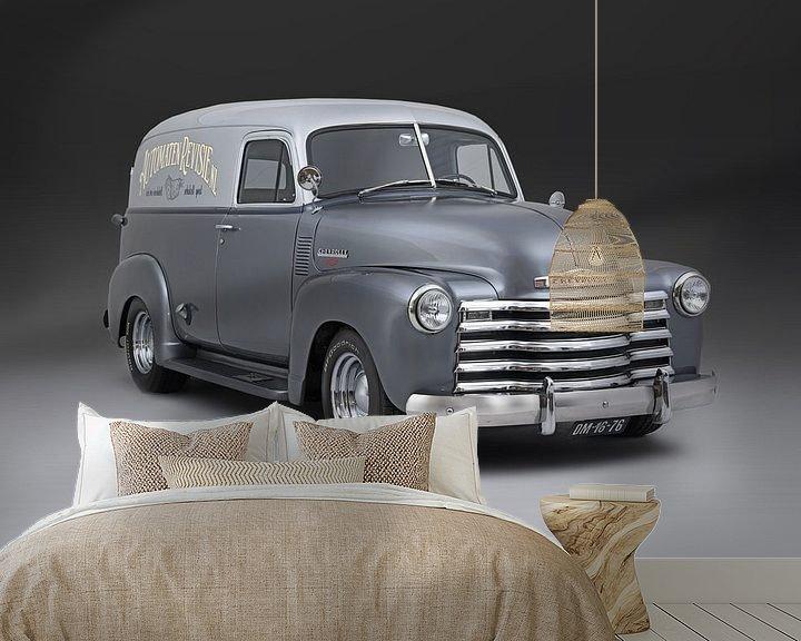 Sfeerimpressie behang: Chevrolet Panel Van van Willem van Holten