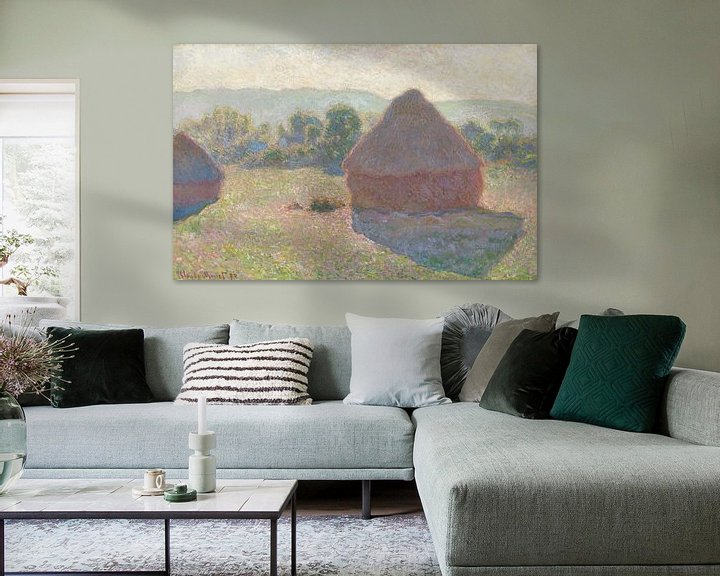 Beispiel: Heuhaufen, tagsüber, Claude Monet