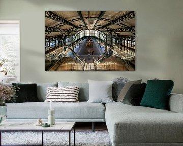 nostalgisch station 's-Hertogenbosch van Eugene Winthagen