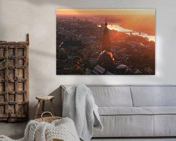 Heidelberg Binnenstad zonsondergang van Vincent Fennis