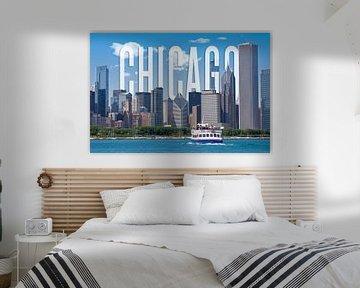 CHICAGO Skyline van Melanie Viola