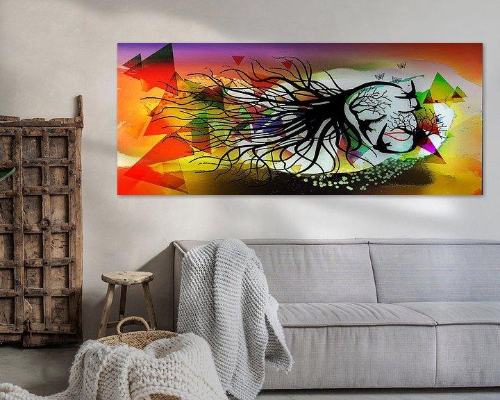 Beispiel: Femme Fatale, Frau bestehend aus Vögeln und Zweigen. von MirEll digital art
