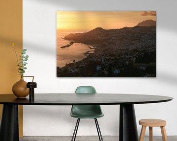 Madeira Funchal Zonsondergang van Jean Claude Castor