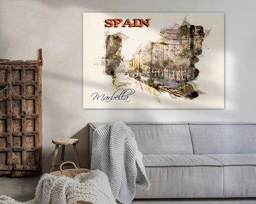 Stilisiertes Poster im Aquarell-Stil. von Ariadna de Raadt