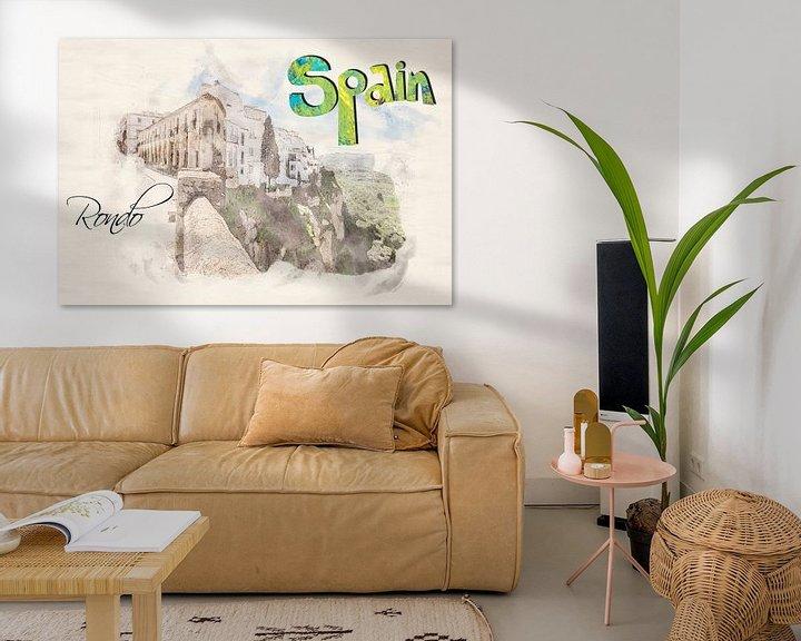 Beispiel: Stilisiertes Poster im Aquarell-Stil. von Ariadna de Raadt-Goldberg