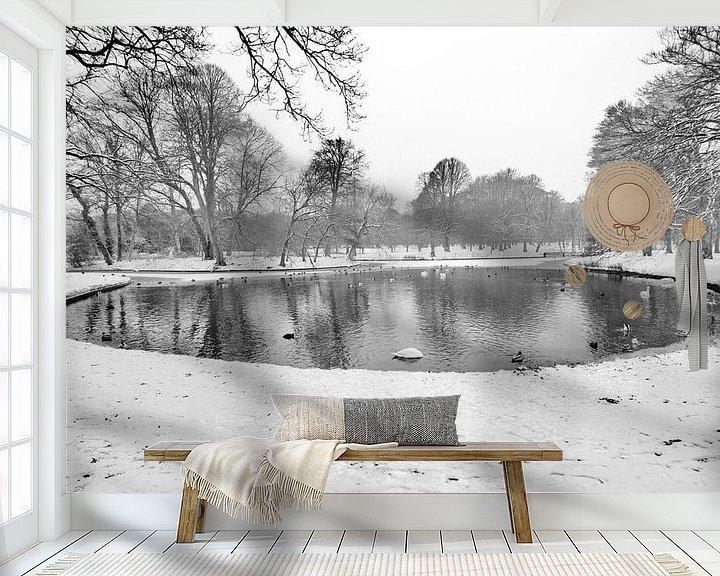 Beispiel fototapete: Winter in Clingendael von Sven Zoeteman