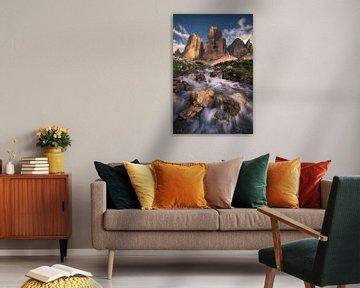 Tre Cime Zonsondergang Waterval van Vincent Fennis