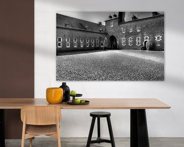 Binnenplaats Kasteel Hoensbroek van MSP Canvas