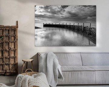 Pittoresk haventje aan de Oosterschelde in Zeeland van Jan van der Vlies