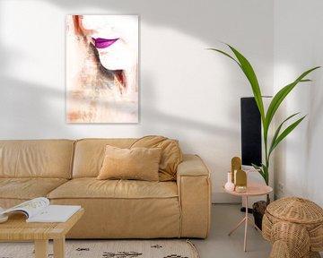 Visage d'une femme aux tons Blanc / Terre sur Art By Dominic
