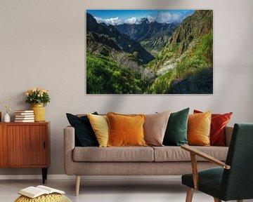 Madeira landschap en bergen bij Pico Ruivo van Jean Claude Castor