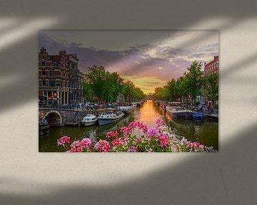 Sonnenuntergang in Amsterdam von Hanno de Vries