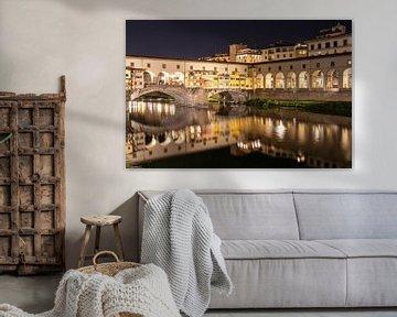 Ponte Vecchio, Firenze - nachtinspiratie van Nina Rotim