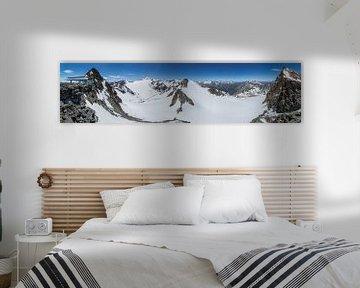 Tiefenbachbahn Solden Wildspitze panorama