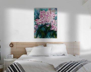 Stralend roze. van Ineke de Rijk