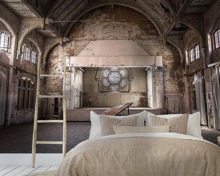 Beispiel fototapete: Klavier im verlassenen Theater von Inge van den Brande