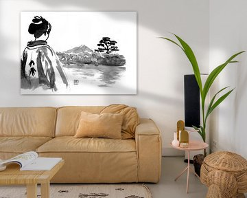 Geisha beobachtet von philippe imbert