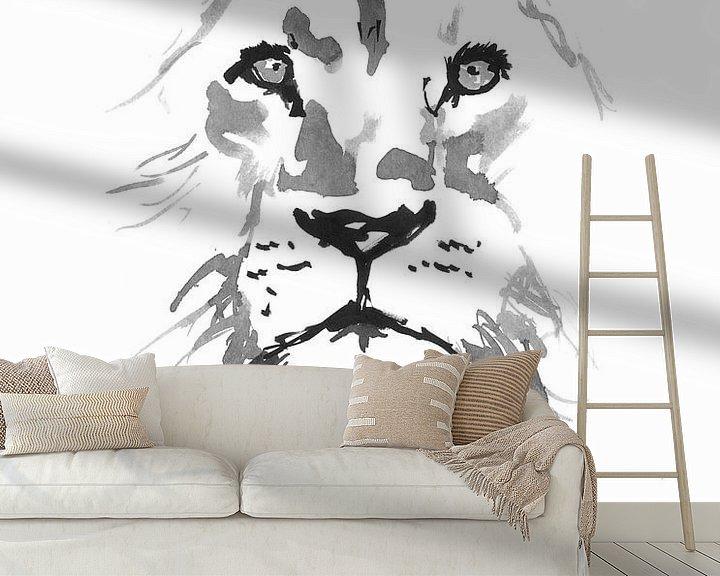 Impression: lion sur philippe imbert