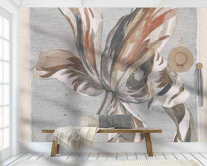 Sfeerimpressie behang: Romantische tulp