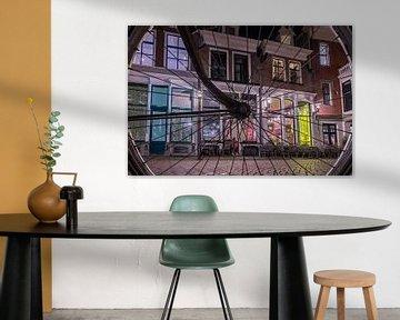 Deventer, Fiets, Avondopname, long exposure. van Frank Slaghuis