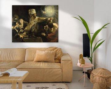 Het feestmaal van Belsazar, Rembrandt van Rijn - ca. 1636
