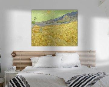 Weizenfeld mit einem Mäher, Vincent van Gogh - 1889