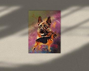 Schäferhund von Printed Artings
