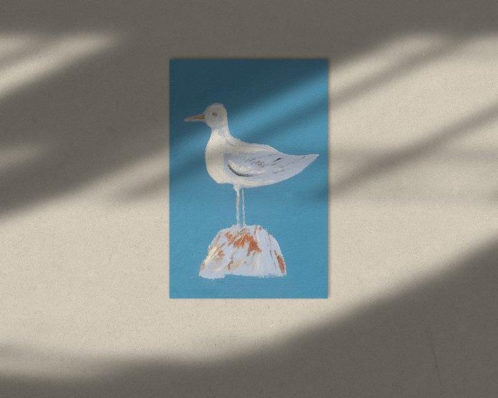 Sfeerimpressie: Zeemeeuw op de muur van Mark Bolijn