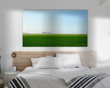Landschap met windmolens van Joris Louwes