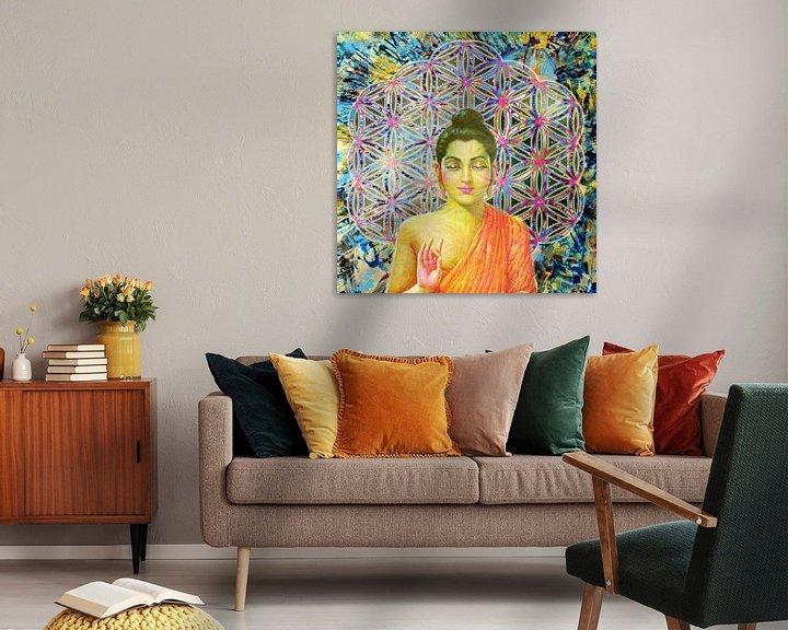 Beispiel: Blume des Lebens Buddha von Giovani Zanolino