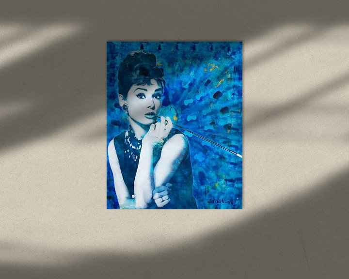 Beispiel: Audrey Hepburn von Giovani Zanolino