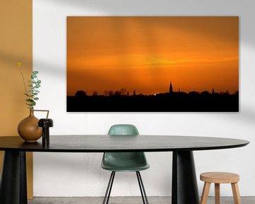 Zonsondergang op een mooie winterdag von Dirk Jan Kralt