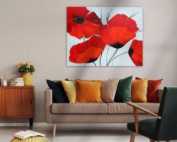 Favoriete bloem: rode klaproos van Claudia Neubauer