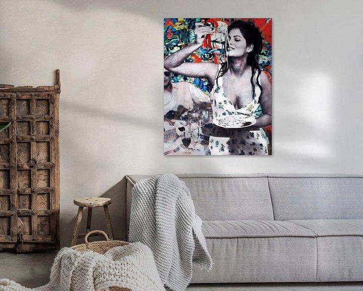 Beispiel: Sophia Loren Porträt von Giovani Zanolino