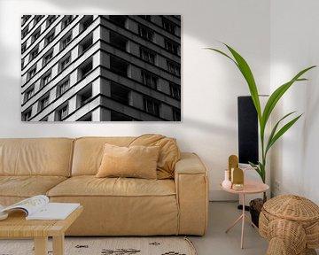 schwarz-weiß Nahaufnahme einer weißen Wohnung von Patrick Verhoef