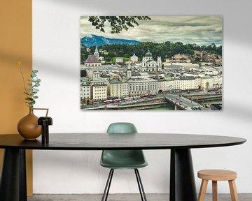 Uitzicht over Salzburg vanaf de Kapuzinerberg