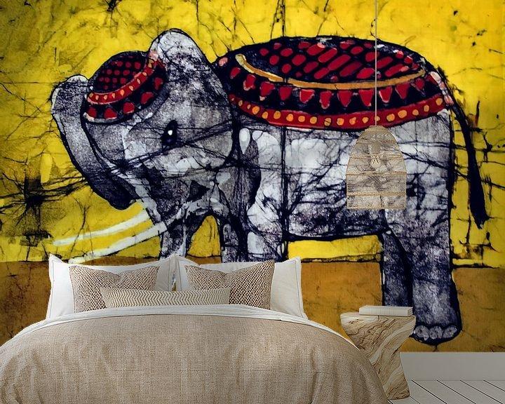 Beispiel fototapete: In der Manege - Der Zirkuselefant von Christine Nöhmeier