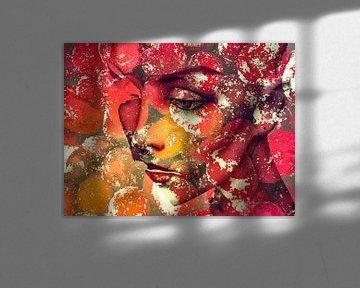 The face with the autumn colors van Gabi Hampe