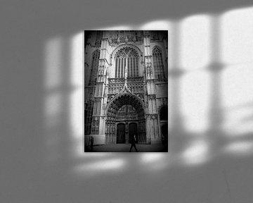 Church entrance in Antwerpen Vity van Nicky`s Prints
