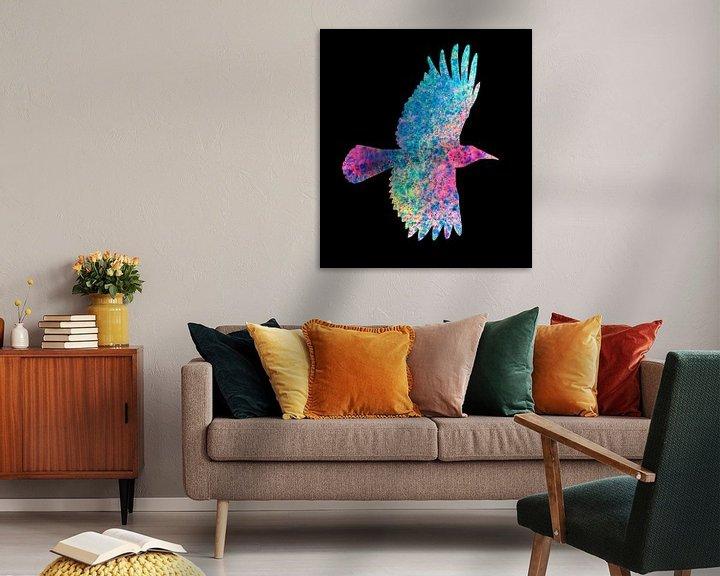 Beispiel: Farbige Krähe von Bianca Wisseloo